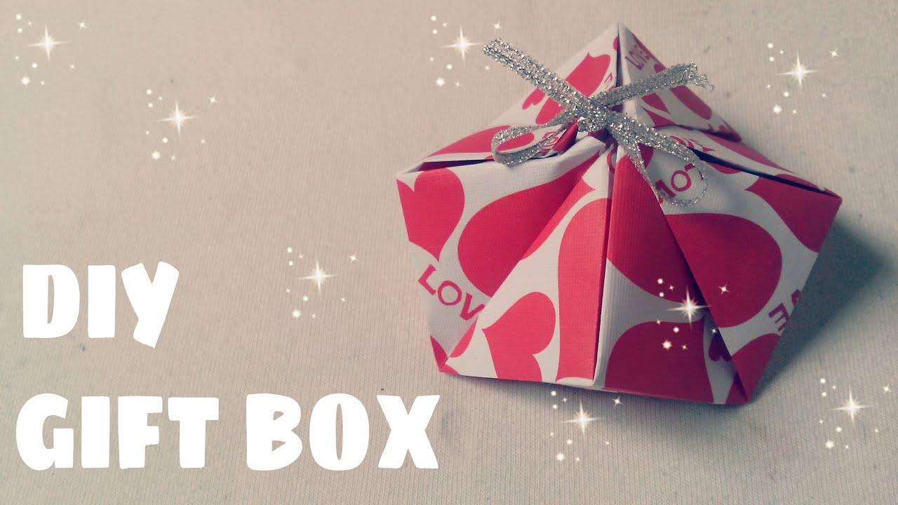 how to make a origami gift box easy