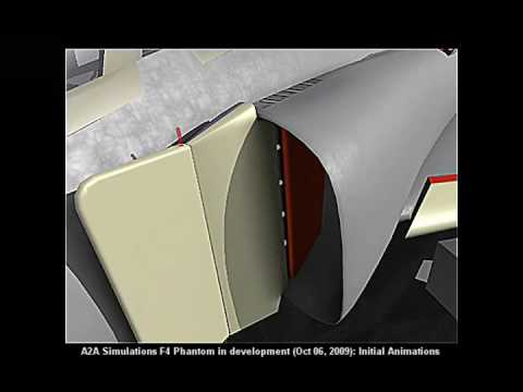 A2A Simulations F-4 Phantom Initial Animations In Development