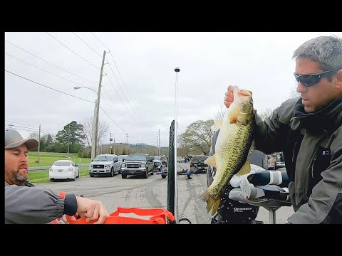 Bass Fishing Tournament At Guntersville Lake Alabama