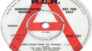 MGM Singing Strings Lara's Theme From Dr Zhivago 1966
