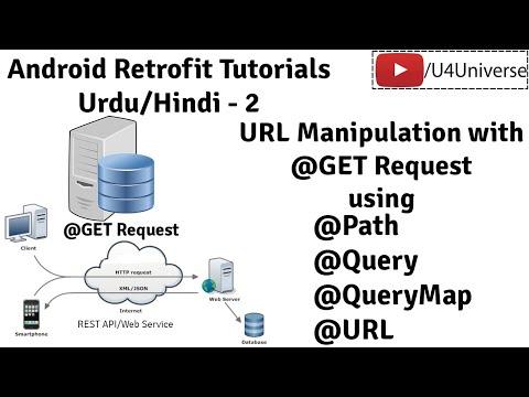 Retrofit For Android-2 | URL Manipulation With Retrofit, @Path, @Query, @QueryMap, @Url | U4Universe