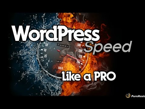 How To Speed up WordPress - YouTube