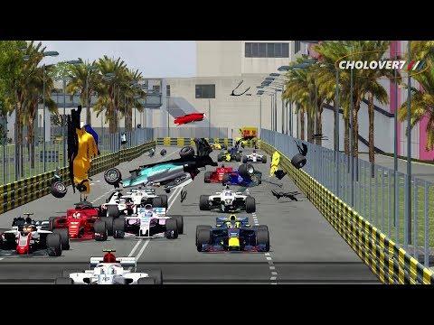 Automobilista Formula 1 Crashes #24 NO MUSIC