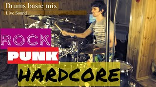 Drums Mix and Performance Demonstration (Metal, Rock, Hardcore Punk)