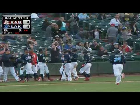 Guthrie Scores Game-winning Run On Wild Pitch