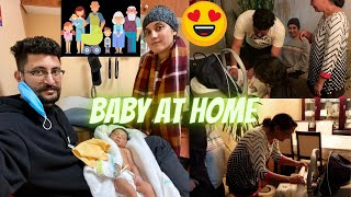 BRINGING BABY HOME | FAMILY MEETS OUR NEWBORN BABY BOY