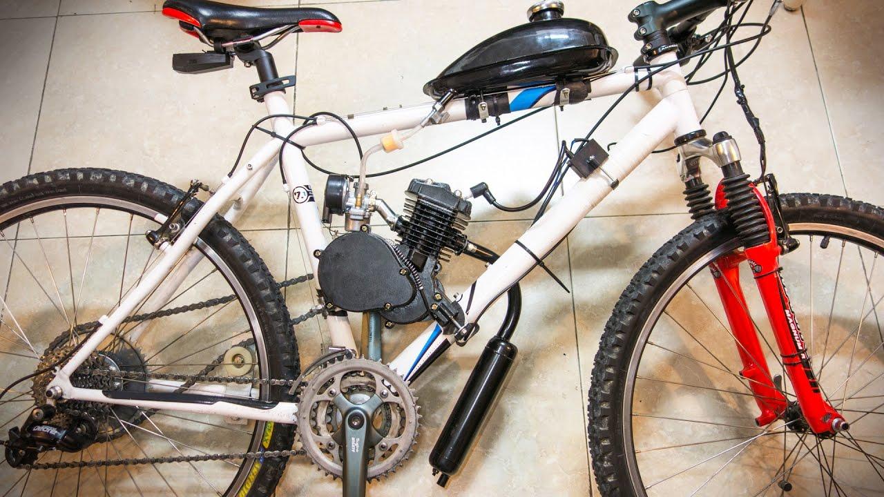TUTORIAL BICIMOTO | Como Montar un Motor de Gasolina en tu Bicicleta ...