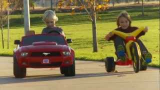 Power Wheels vs Big Wheel Race