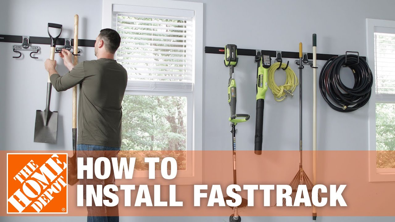 How To Install The Rubbermaid Fasttrack Organization System