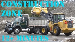 Bulldozers in Action - Construction Zone 5  Bulldozer and dump truck - 12+ minutes