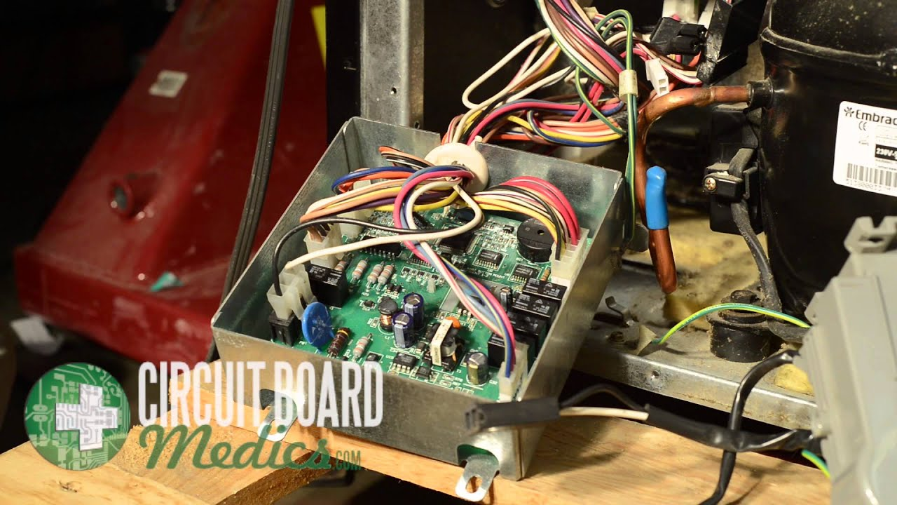 Kitchenaid Free Standing Refrigerator Control Board Repair W10219463 Installed Power Supply Circuit Showing Components
