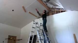 Hanging drywall alone!