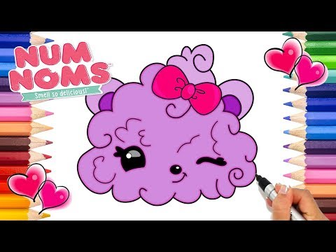 Num Noms Berry Puffs Coloring Page | How to Draw Num Noms | Printable Num Noms Coloring Pages