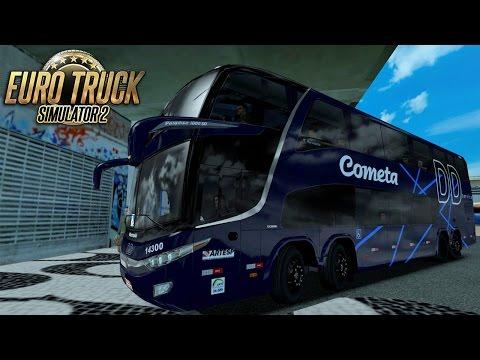 Euro Truck Simulator 2 Mod Bus   Cometa - Curitiba/Rio de janeiro - 1080p60fps