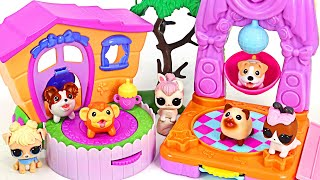 Chubby Puppies Friends 2in1 House! Let's party with LOL pets! | PinkyPopTOY