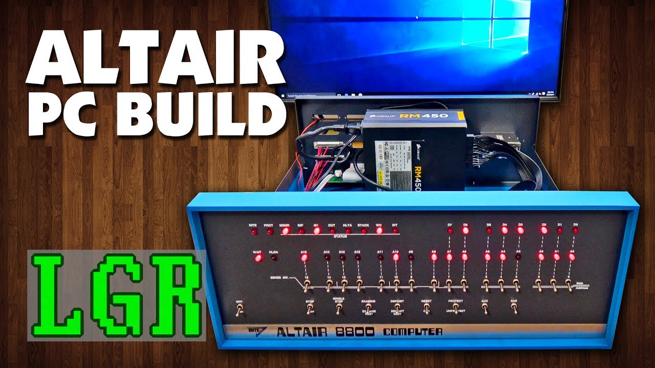 f55f2614dd LGR - Building a New PC into an Altair 8800 Clone - YouTube
