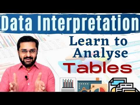 Data Interpretation - 2 (Tabular Data) - Learn to analyse tables