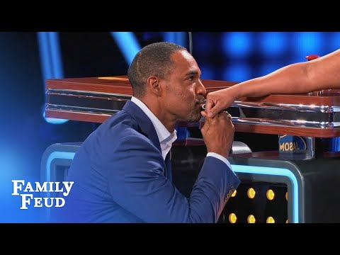 Starts with a KISS! Chandra & Jason face off!  Celebrity Family Feud