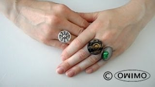 How to make Button Rings - OWIMO Design Upcycling Thumbnail