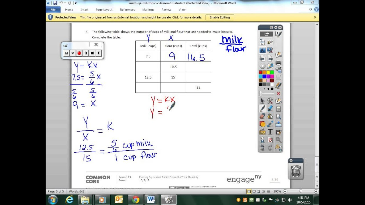 math worksheet : mod 1 lesson 13  youtube : Finding Equivalent Ratios