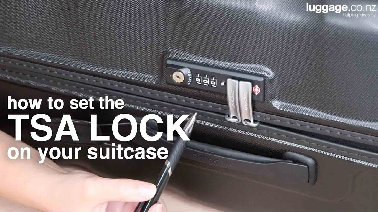How To: Set A Built-In TSA Lock - Luggage NZ