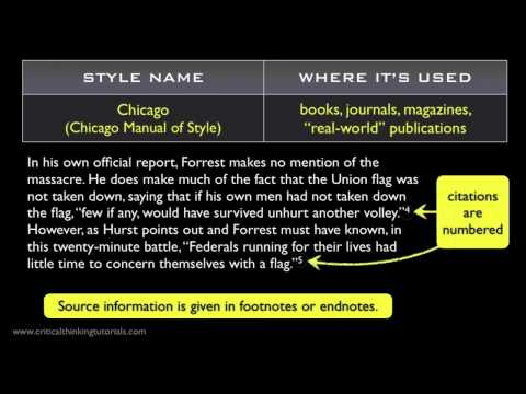 Understanding Citation Styles