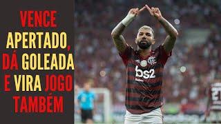 Esse Flamengo que vence apertado, dá goleada, vira jogo e volta abrir 10 pontos sobre o Palmeiras