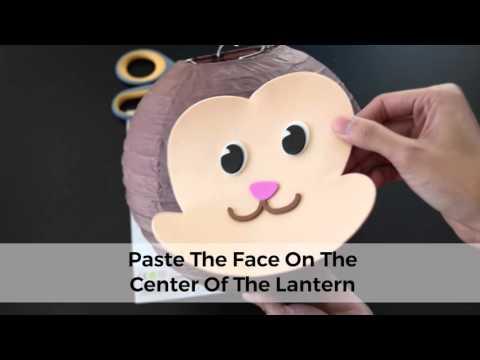 How To Make Your Paper Lantern Animal Face DIY Kit -Monkey