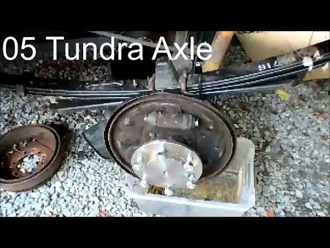 replace 05 toyota tundra rear axle shaft, wheel bearing, and seals