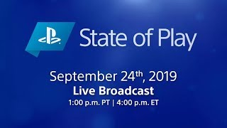 Playstation State of Play LIVE! 9/24/19