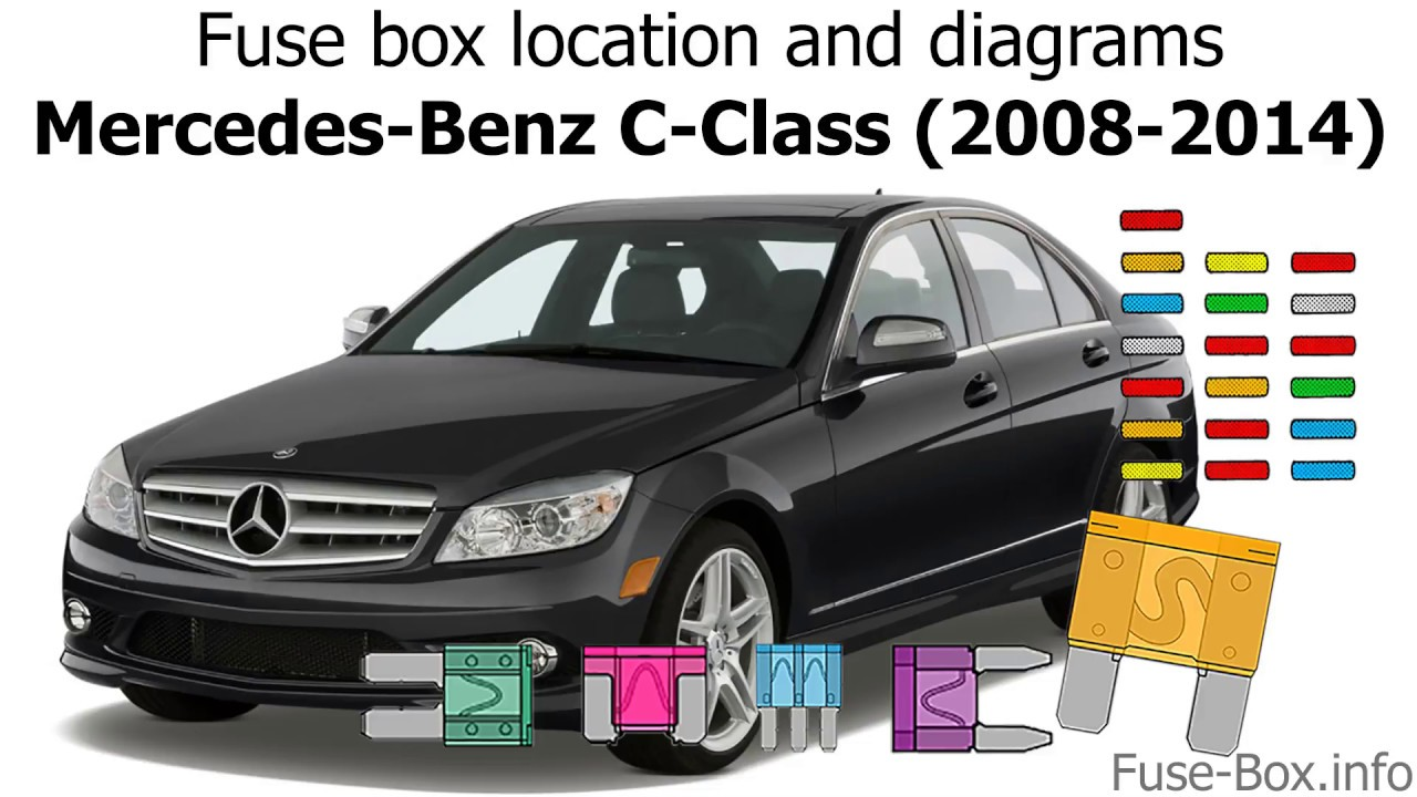 fuse box location and diagrams mercedes benz c class 2008 2014  [ 1280 x 720 Pixel ]