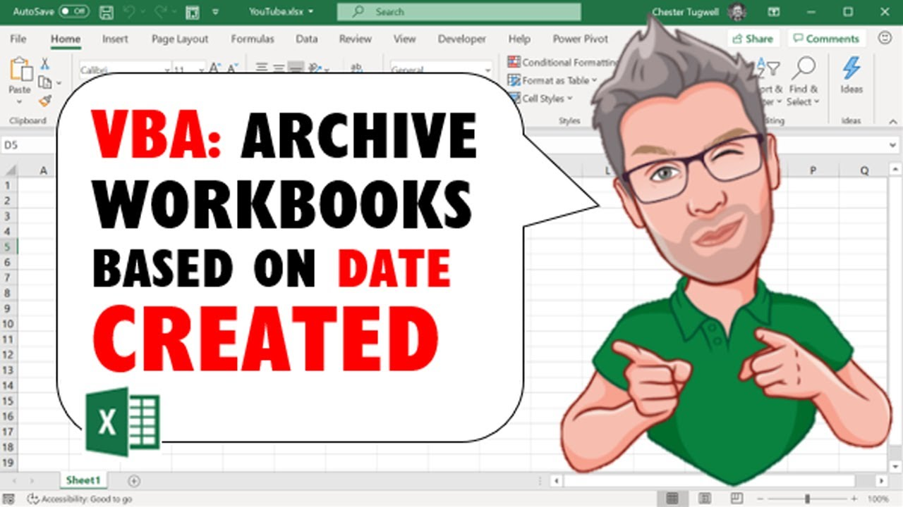 Excel VBA: Archive Workbooks Based on Date Created –