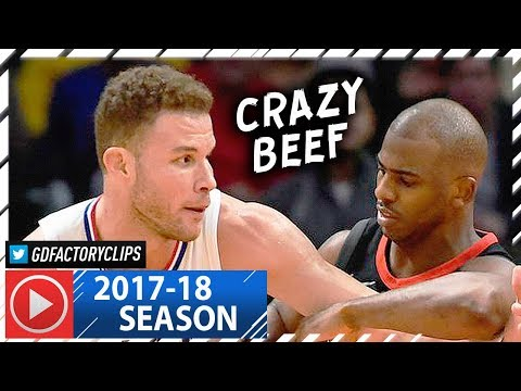 Chris Paul vs Blake Griffin CRAZY Duel Highlights (2018.01.15) Clippers vs Rockets - CP3 Returns!