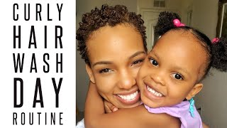 Mommy and Me Natural Hair Routine + Wash Day with My Curly Temple
