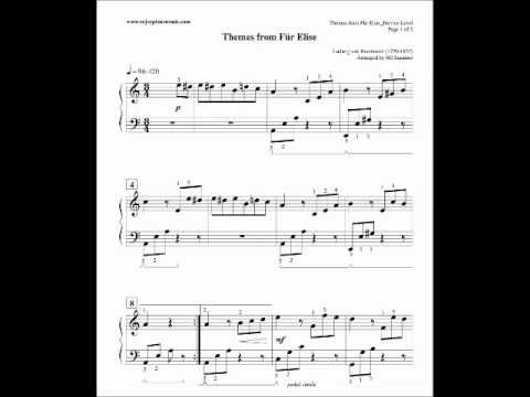 Fur Elise Sheet Music Part 2 - ludwig van beethoven quot für elise ...
