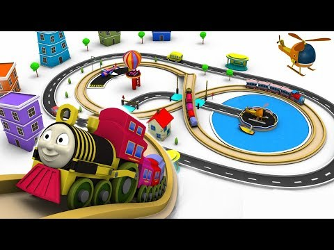 Train for children - cartoon for kids - train cartoon - choo choo train - Toy Factory cartoon