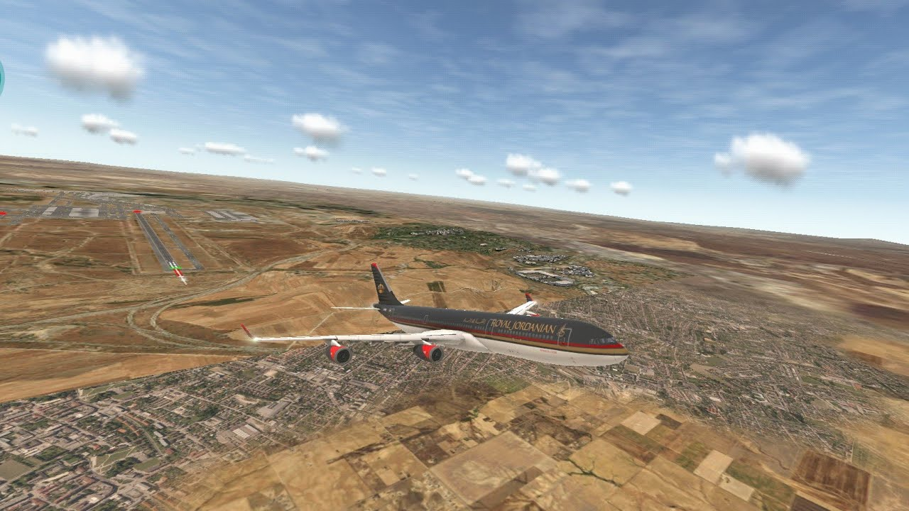 Royal Jordanian Airbus A340 Heavy Takeoff/ Decolando Pesado (LEMD) - Real  Flight Simulator