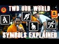 An explanation of the symbols in TWD our world