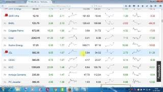 DAY TRADING LEGENDARY DEMO VIDEOS -HOW TO SELECT STOCK WITH THE HELP OF TODAY'S AND 30 DAYS TREND- 1