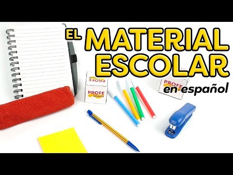School supplies in Spanish - Vocabulary and example sentence