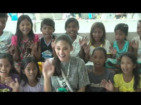Pia Wurtzbach visits Yolanda-hit Tagbanua community