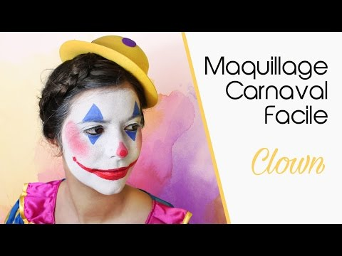 maquillage carnaval facile clown youtube. Black Bedroom Furniture Sets. Home Design Ideas