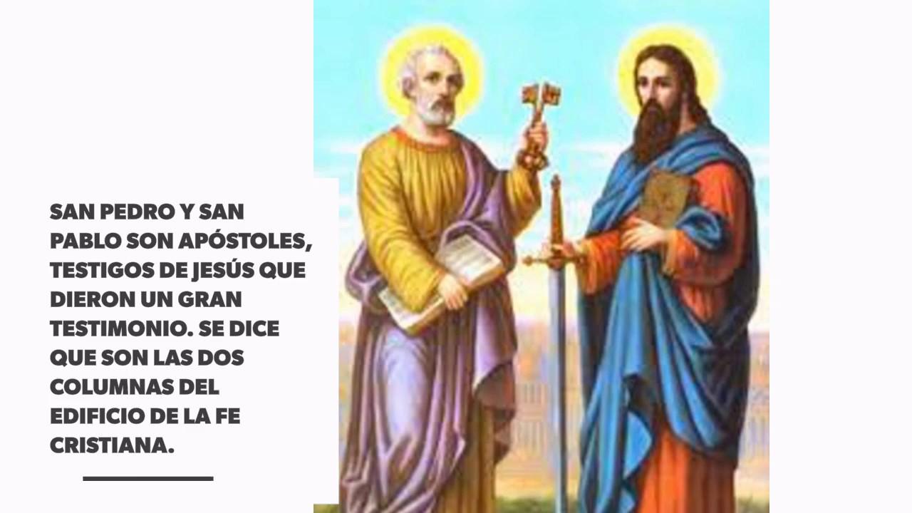 Santos Del Día San Pedro Y San Pablo 29 De Junio Youtube