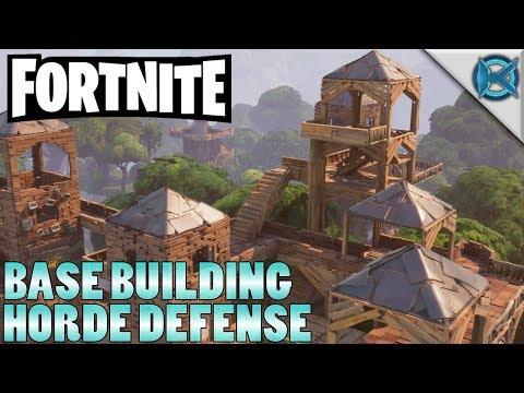 Base Building Horde Defense| Fortnite | Let's Play Gameplay | S01E01