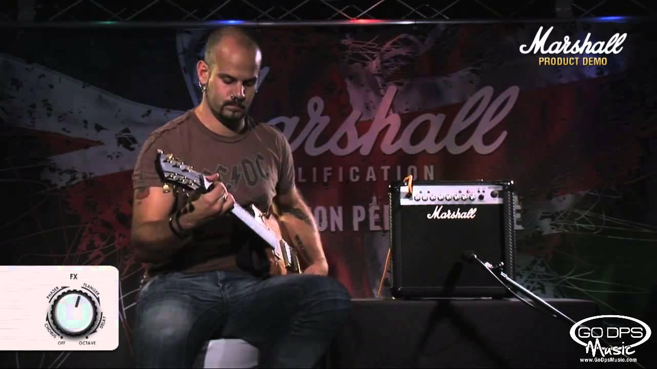 marshall amps mg15cfx 15 watt combo demonstration w chris george