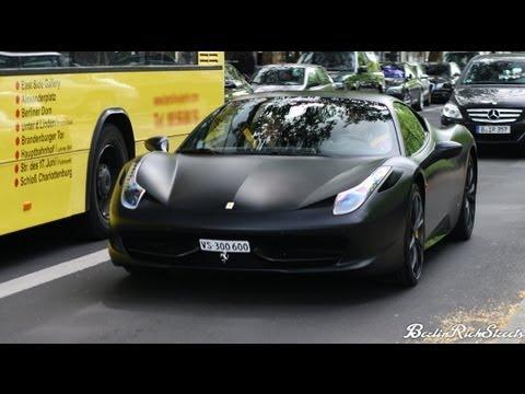matte black ferrari 458 italia - Black Ferrari 458 Italia