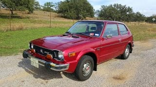 1977 Honda Civic CVCC Hatchback Classic Car Vintage