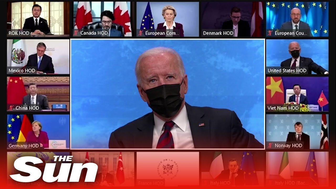 Biden mocked for wearing Covid mask during VIRTUAL climate change summit -  YouTube