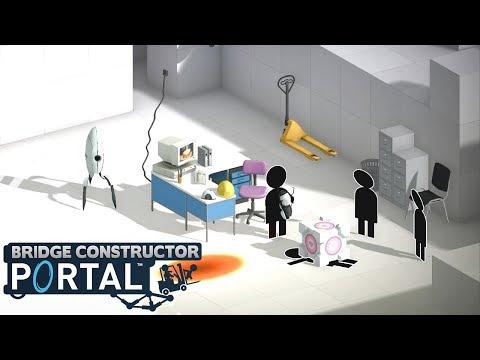 BRIDGE CONSTRUCTOR PORTAL - Level 57 to 60! (Gameplay)