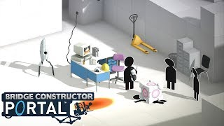 BRIDGE CONSTRUCTOR PORTAL - Level 57 to 60! (Gameplay)